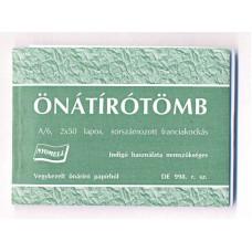 Átírótömb (A/6, 50*2/V)Nyomell DE988 Sorszámozott