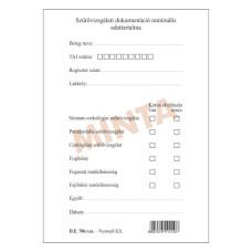 B.De.706 Fogászati Szűrővizsgálati Dokomentum Nyomell 500db/csomag