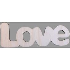 Fafigurák Felírat Love 10cm 5db/csomag