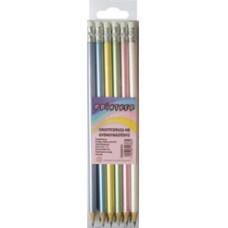 Ceruza (Grafit, Gyöngyházfényű HB Radíros 6 Szín 12db/doboz)