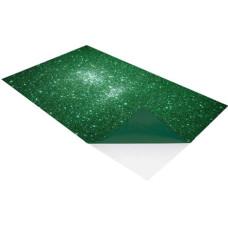 Dekorgumi A/4 Öntapadós Csillámos Zöld 2mm 10db/csomag