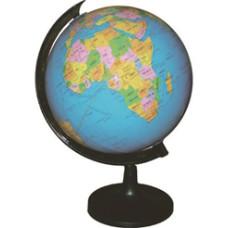 Földgömb 21,4cm Fekete Tartóval