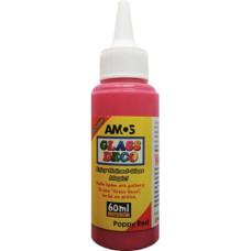 Üvegmatrica Festék Amos 60ml Piros