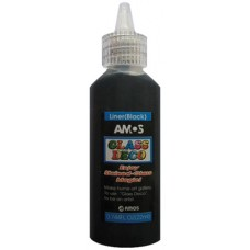 Üvegmatrica Festék Amos 22ml Fekete Kontúr