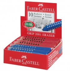 Radír (Faber Gripp Piros-Kék 187101) 10 db/csomag
