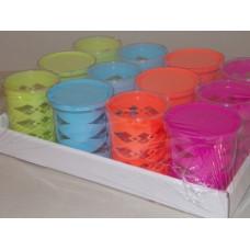 Asztali Ceruzatartó Műanyag Színes 12db/doboz