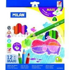 Ceruza (Színes Milán/12 261 Maxi Háromszög)
