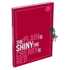 Emlékkönyv T-Creativ A/5 Plain Lakatos Kemény Fedelű Cherry Red