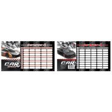 Órarend (T-Creativ Mini 21 Speed Car 8*15cm) 25db/csomag