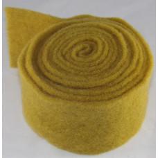 Gyapjú Filc Zománc Rostokkal Mustár 7,5cm x 2,5m