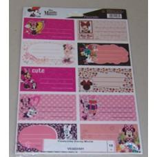 Füzetcimke (Fűzfő Disney Minnie) 10db/csomag