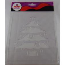 Sablon Stencil Műanyag K2 Karácsonyfa