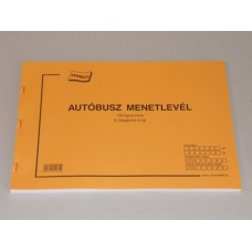 B.D.Gépj.41/U Buszmenetlevél Nyomell 10db/csomag