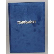 Vendégkönyv A/4 U.Plüss Feliratos Kék