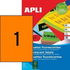 Etikett Cimke Apli 210*297 1db-os Neon Narancs 20db/csomag