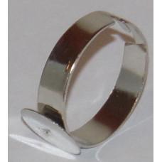 Ékszer Gyűrűalap Tárcsás 10mm Ezüst