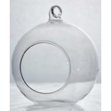 Váza Akasztható Gömb 10cm Üveg