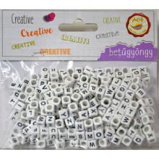 Gyöngy Betű Fehér-Fekete 300db/csomag