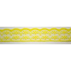 Ü.Csipke Nylon 2,3cm Sárga 20méter