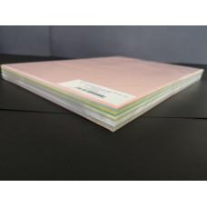 Dekorációs Karton Kaskad A/3 225gr Pasztel Mix 10*10 ív/csomag