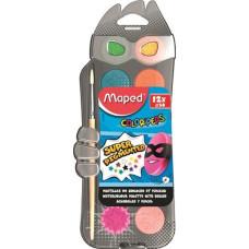Vízfesték (Maped/12 30mm átm/szín+ Ajándék Ecset)