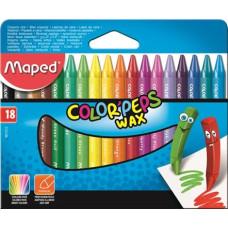 Zsírkréta (Maped Wax/18 Color Peps)