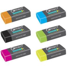 Radír (Connect Plastic 6 szín) 36db/doboz