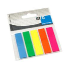 Jegyzet (Oldaljelölő GLN 12*44mm 5*25lap 5 szín Műanyag) 12csomag/gyűjtő