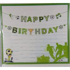 Girland (Papír Színes Happy Birthday Focis) 613998
