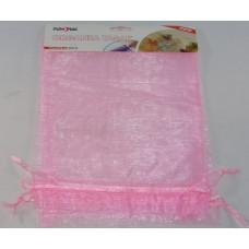 Dísztasak Organza 17*23cm Rózsaszín 3 db/csomag 12 csomag/gyűjtő