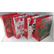 Dísztasak Karácsonyi GL A20-1-3 18*23cm 12db/csomag