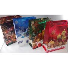 Dísztasak Karácsonyi GL A20-1-1 18*23cm 12db/csomag