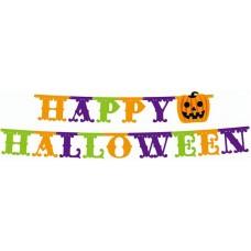 Dekoráció Halloween Felírat Papír Happy Halloween 350*21cm