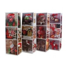 Dísztasak Italtasak Karácsonyi 4 minta 12db/csomag