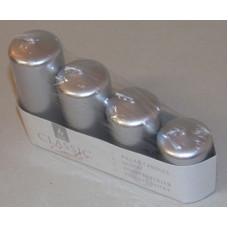 Gyertya Adventi Egyszínű Metál 4 Méret 4db/csomag Ezüst