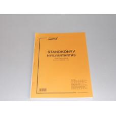 B.D.Vv.1253/V Nyilvántartás Standkönyv