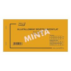 B.D.Mg.4-10/V Állatállomány Bevételi Bizonylat 25*4 Nyomell