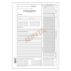 B.D.Mg.7-012 Javítási Munkalap A/4 100 Lapos 1+1 Szín