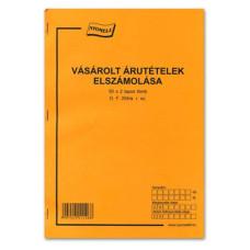 B.Df.204/A Vásárolt Árútételek Elszámolása Csaposkönyv