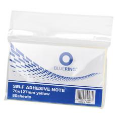 Jegyzet (Öntap Bluering 127*76 Sárga 80 Lap) 12db/csomag