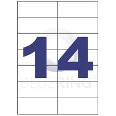 Etikett Cimke Bluering 105*42,4mm 14db/ív