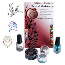 Tetováló Készlet Csillámos Trópusi Absztrakt Állatok