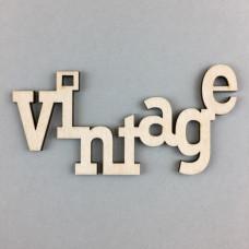Fafigurák Felírat Vintage 10cm 3db/csomag