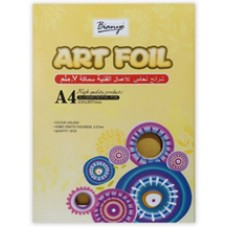 Dekor Karton Kreatív Alumínium Fólia Arany A/4 70mic. 3 ív/csomag