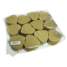Papírdoboz Szív Natúr 6*6*3.5cm 12db/csomag