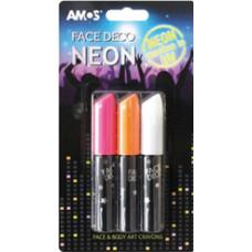 Arcfesték Amos 3 Szín Neon Uv Bliszteren