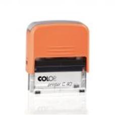 Bélyegzőház C-40 Colop Narancs-Átlátszó