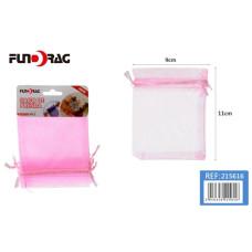 Dísztasak Organza 9*11cm Rózsaszín 5db/csomag 12 csomag/gyűjtő
