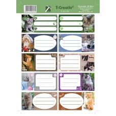 Füzetcimke (T-Creatív Mintás 21 Cats 25ív/Csomag)