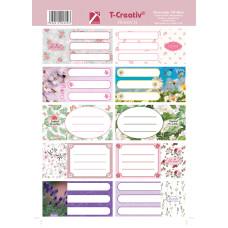 Füzetcimke (T-Creatív Mintás 21 Flowers 25ív/Csomag)